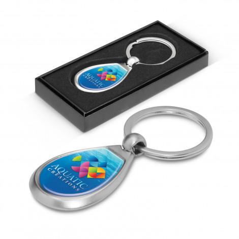 Drop Metal Keyring