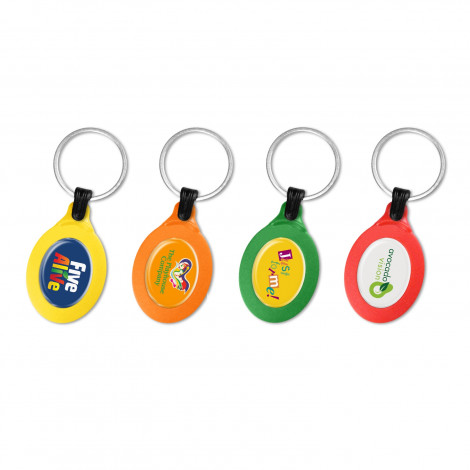 Colourbrite Oval Keyring