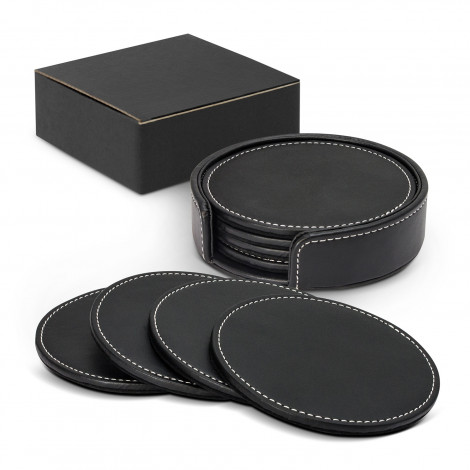 Leather Look Coaster Set of 4