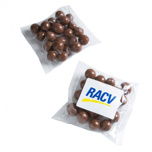 Chocolate Coated Coffee Beans in a Cello Bag 50g
