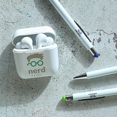 Bluetooth Earbuds & a Stylus Pen Pack