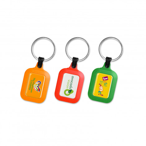 Colourbrite Rectangle Keyring