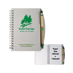 BFNB007 Recycled Cover Spiral Notebook & Pen