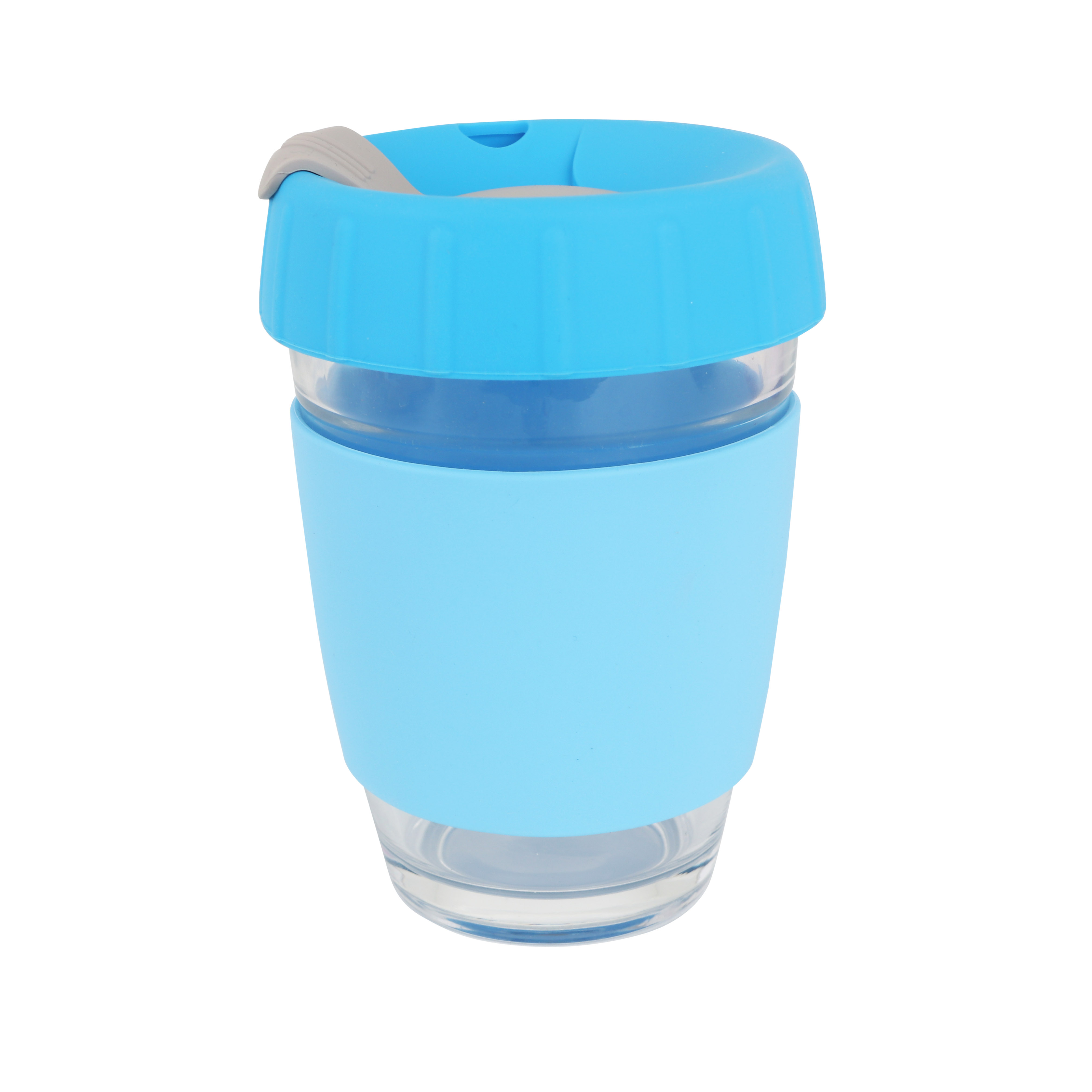 12 OZ Reusable Glass Coffee Cup
