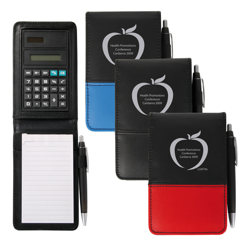 BFNB008 PVC Notepad With Calculator and Pen - Click Image to Close