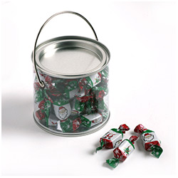 PVC Bucket filled with Christmas Toffees 190g