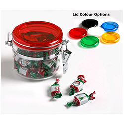 Canister filled with Christmas Toffees 200g
