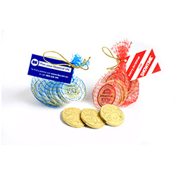 BFCN002 - Chocolate Coins in Mesh Bag