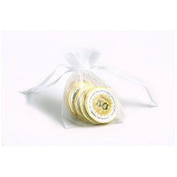 BFCN004 - Chocolate Coins in Organza Bag